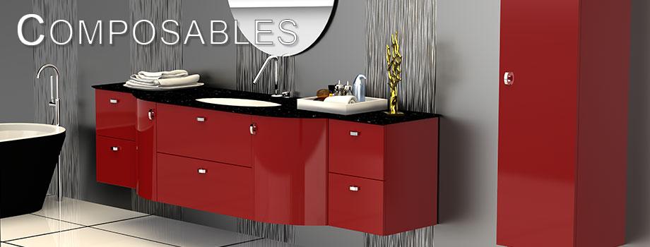 Meubles de salles de bain LIDO Paris Collection COMPOSABLES